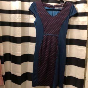Andrew Marc geometric print body con dress size 2